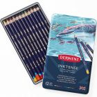 Derwent Inktense Colored  Pencils Tin Case 12 Colors