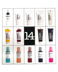 Golden A-Z Acrylic Set - 14 Colors and Mediums