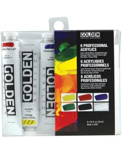 Golden Introductory Professional Heavy Body Acrylics 6-Color Set