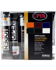 Golden OPEN Acrylic Paint Traditional 6-Color Set