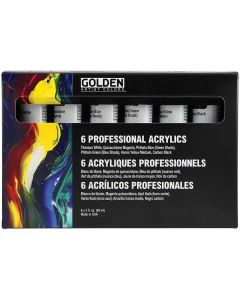 Golden Professional Heavy Body Acrylic Set - 6 Colors